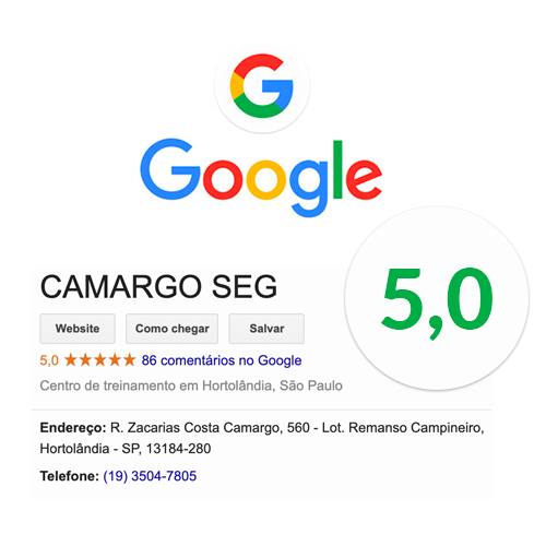 Avaliação do Google Camargoseg